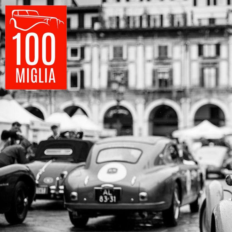 Logo realizzato per l'evento 100 miglia a Brescia con Bresciaup