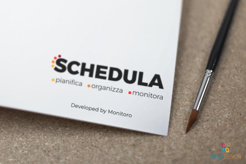 Logo creato per schedula in collaborazione con Monitoro Srl