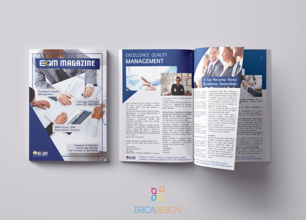 Magazine realizzato graficamente per eqm - grafica