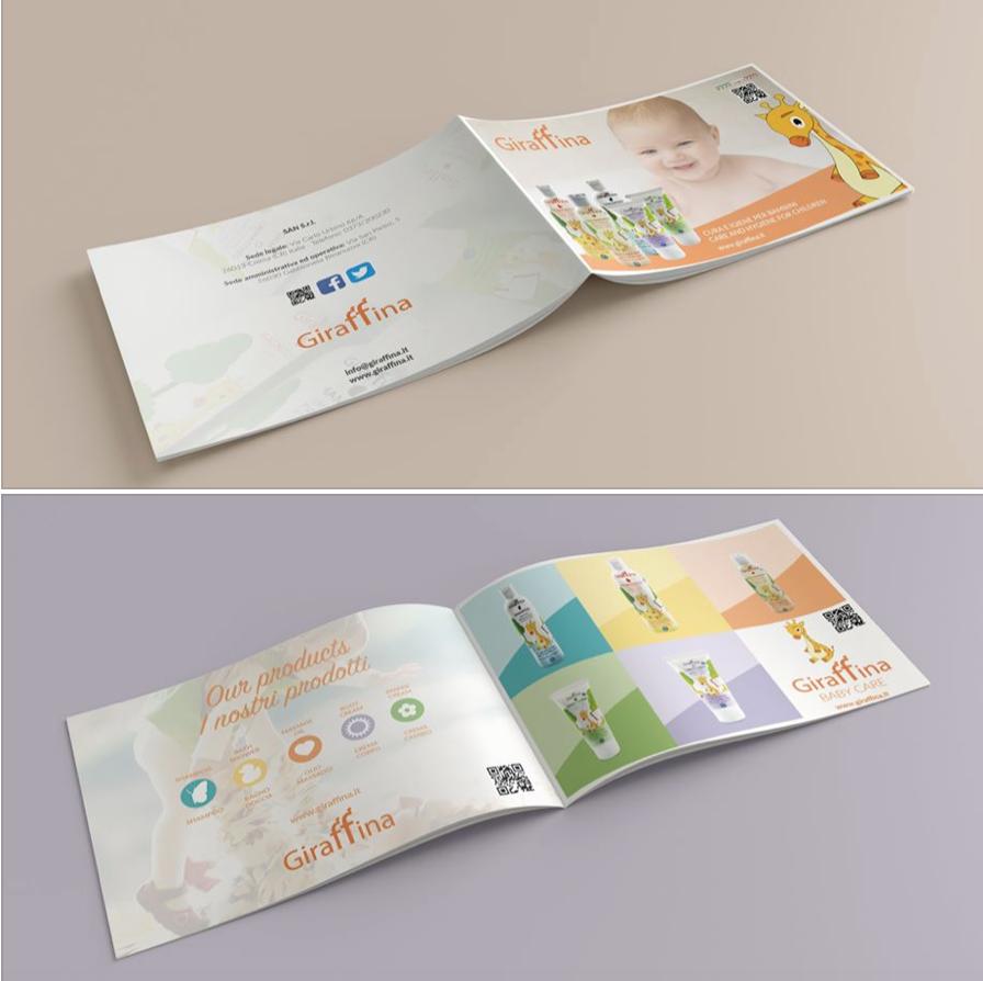Catalogo grafico creato per Giraffina Cremona