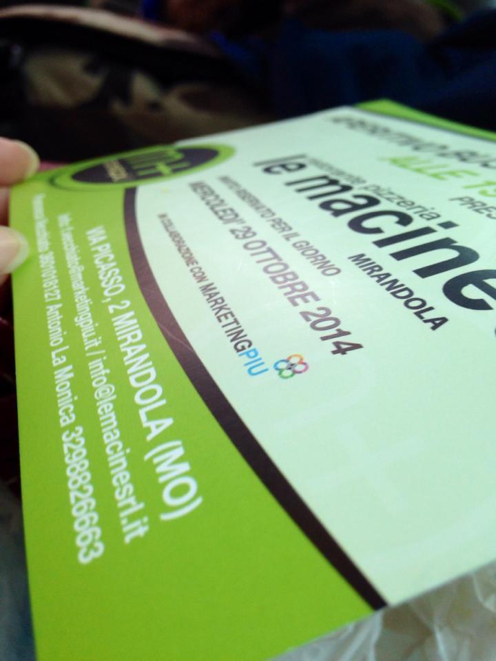 Flyer grafico realizzato per marketing più Brescia