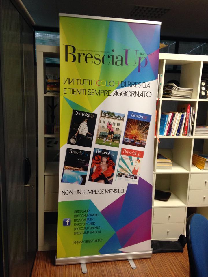 Grafica per il Rollup di Bresciaup rivista a Brescia