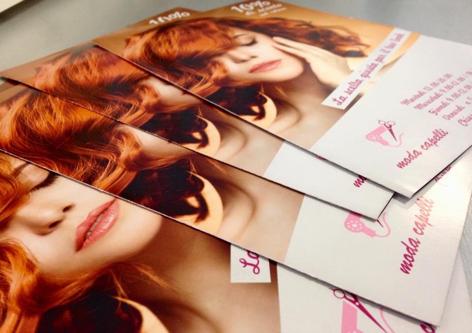 Flyer grafici realizzati per moda capelli