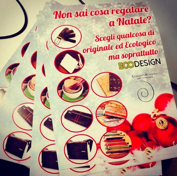 Grafica per i flyer dell'evento eco design Brescia