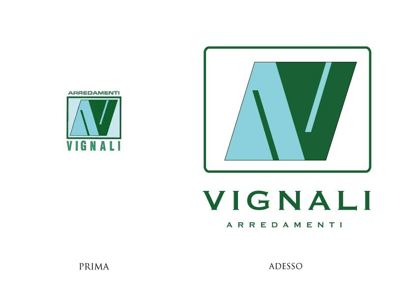 Rinnovamento grafico del logo Vignali arredamenti brescia