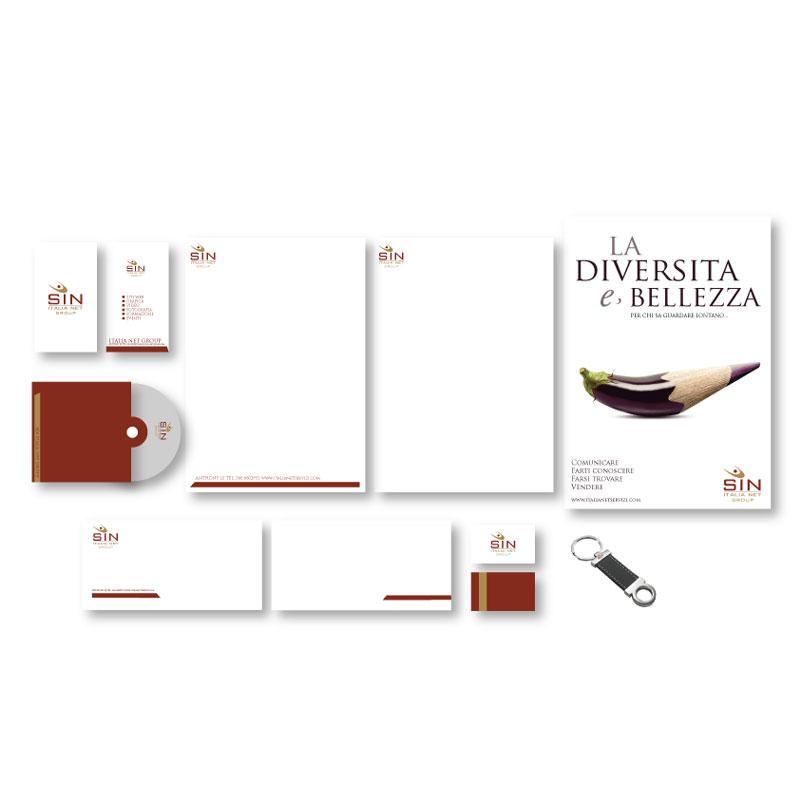 Immagina coordinata creata per Sin italia net Brescia