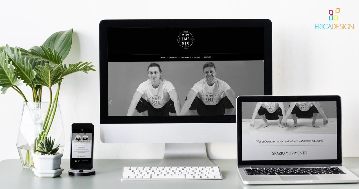 Sito web realizzato per Spazio Movimento a Brescia
