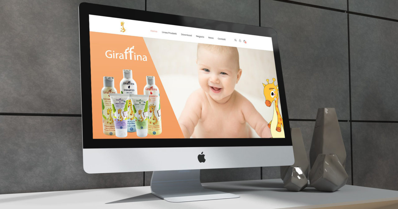 Sito web creato per Giraffina prodotti beauty Cremona