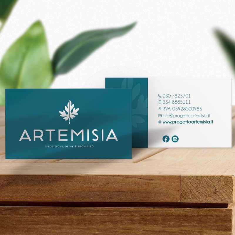 Biglietti da visita per Artemisia locale Brescia