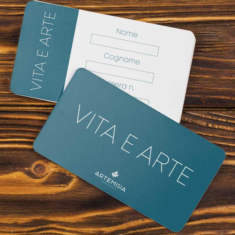 Card per Arte e vita Artemisia locale Brescia